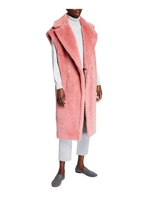 Max Mara Double-Breasted Teddy Long Vest