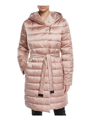 Max Mara Here is the Cube Collection Novef Reversible Belted Down Jacket