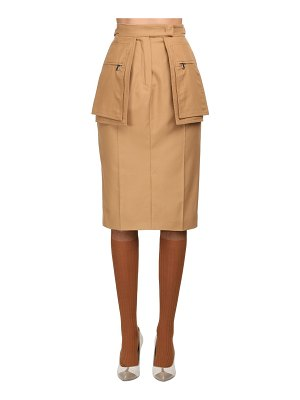 Max Mara High waist cotton twill skirt w/ pockets