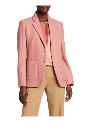 Max Mara John Cashmere Patch Pocket Blazer