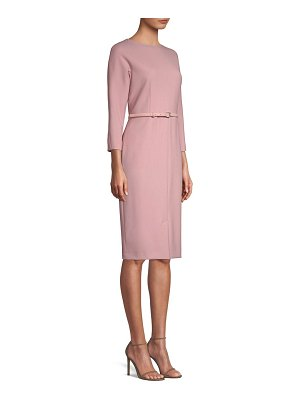 Max Mara karub belted sheath dress