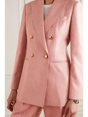 Max Mara lamine double-breasted camel hair and silk-blend twill blazer