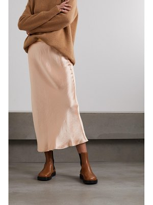 Max Mara leisure segnale hammered-satin midi skirt
