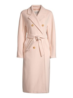 Max Mara madame virgin wool & cashmere belted overcoat