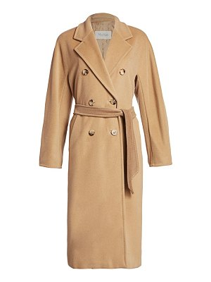 Max Mara madame wool & cashmere belted wrap coat