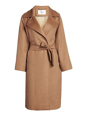 Max Mara manuela icon camel hair wool wrap coat