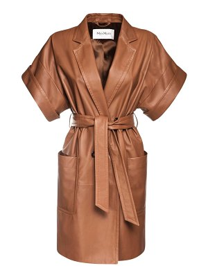 Max Mara Navata leather coat dress