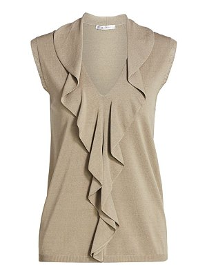 Max Mara pala ruffle neck sleeveless top