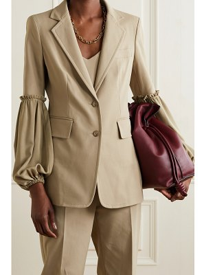 Max Mara pasta stretch-cotton and silk crepe de chine blazer