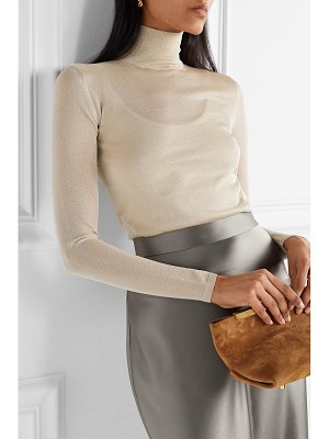 Max Mara pietra lurex turtleneck sweater
