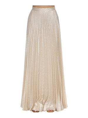 Max Mara Pleated lurex silk georgette maxi skirt