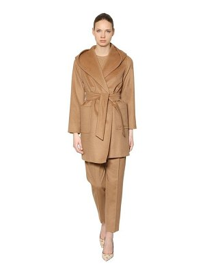 Max Mara Rialto hooded camel coat