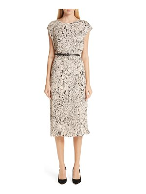 Max Mara rino print plisse dress