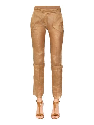 Max Mara Silk organza pants & stretch leggings