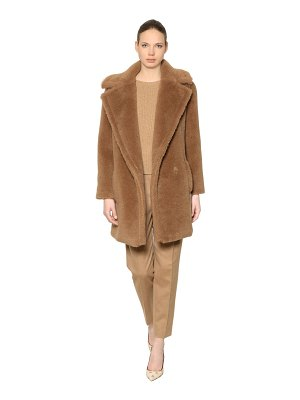 Max Mara Teddy camel & silk coat