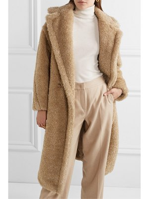 Max Mara teddy icon metallic faux fur coat