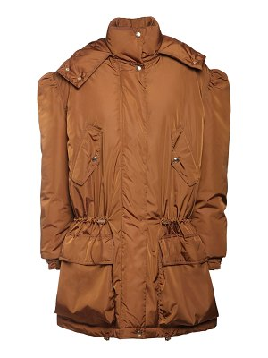 Max Mara Waterproof nylon taffeta down coat