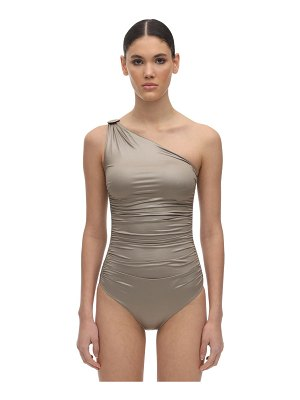 Max Mara Waxed lycra one piece swimsuit
