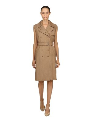 Max Mara Wool drill long trench vest