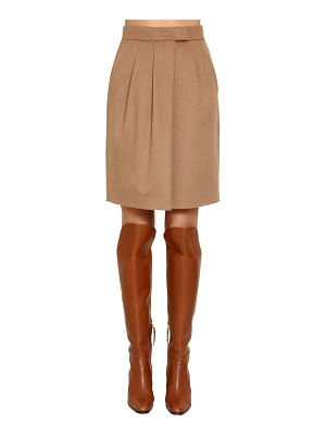 Max Mara Wrapped camel skirt