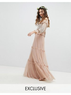 Maya premium tulle layered maxi bridesmaid skirt