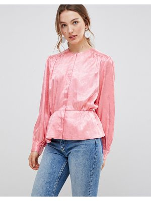 mbyM satin button front blouse