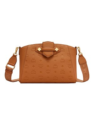 MCM Essential Monogrammed Leather Crossbody Bag