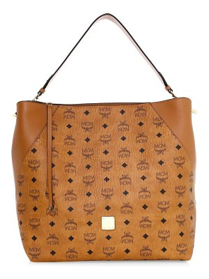 MCM large klara visetos leather hobo bag