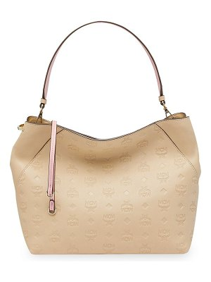 MCM klara medium leather hobo bag