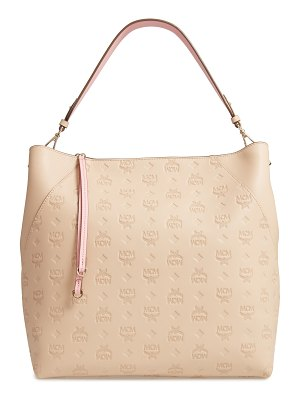 MCM large klara monogram leather hobo