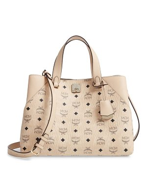 MCM large visetos coated canvas tote