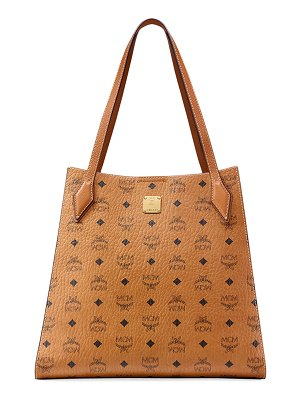 MCM Luisa Medium Visetos Leather Block Shopper Bag