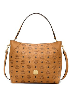 MCM medium klara visetos coated canvas hobo