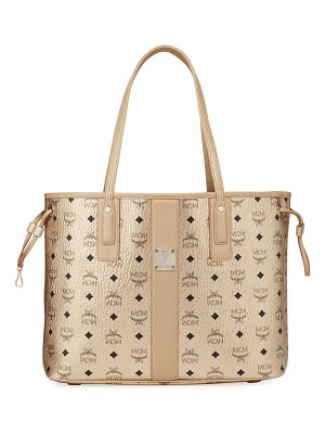 MCM Medium Visetos Shopper Tote Bag
