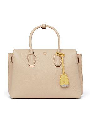 MCM Milla Pebbled Leather Tote Bag