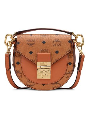 MCM mini patricia visetos coated canvas & leather shoulder bag