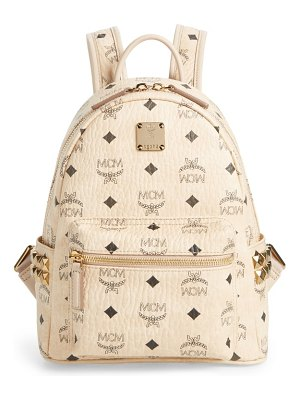 MCM mini stark side stud coated canvas backpack