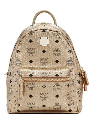 MCM mini stark stud coated canvas backpack