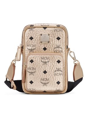 MCM mini visetos original coated canvas crossbody bag