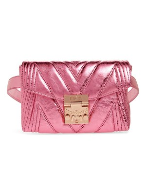 MCM patricia logo quilted leather belt bag