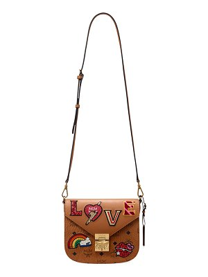 MCM Patricia Small Love Patch Shoulder Bag