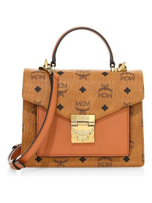 MCM patricia visetos leather satchel