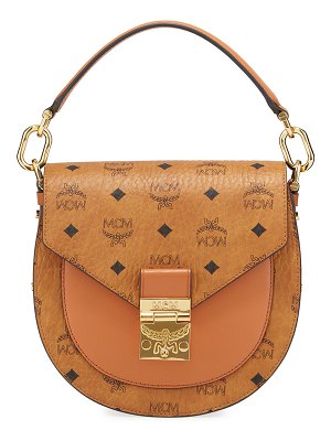 MCM Patricia Visetos Small Shoulder Bag
