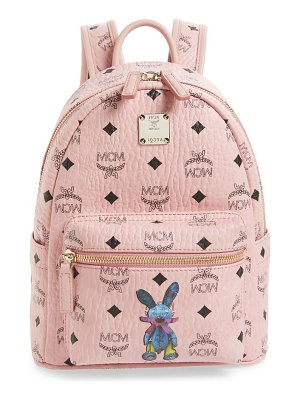 MCM rabbit mini coated canvas backpack