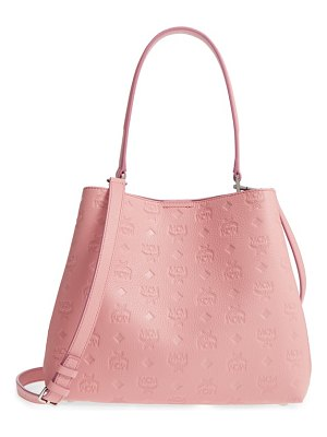 MCM sara leather convertible hobo