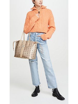 MCM shopper project visetos medium shopper bag