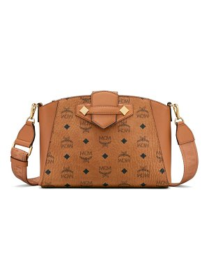 MCM small essential visetos coated canvas crossbody bag