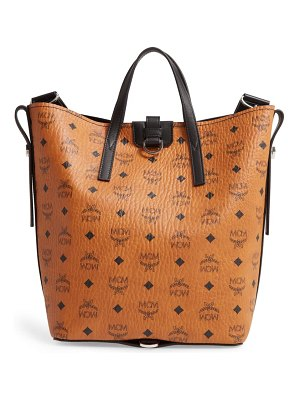 MCM small gunta visetos coated canvas shopper