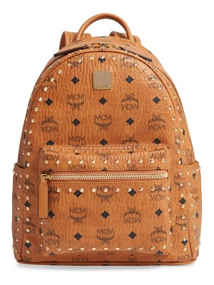 MCM small stark outline stud leather backpack