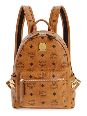 MCM small stark visetos coated canvas backpack